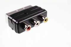 Connettori di SCART Immagine Stock