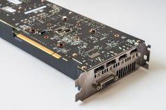 Connettori e porte del videocard moderno del computer del PCI Fotografie Stock Libere da Diritti