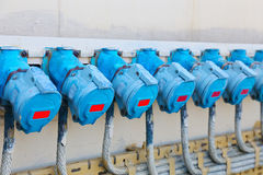 connettori elettrici ad alta tensione Fotografie Stock Libere da Diritti