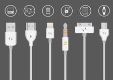 Connettori per i dispositivi mobili Immagine Stock