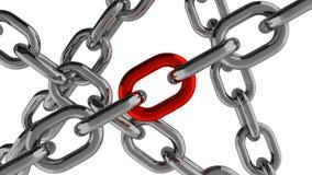 Connexion à chaînes avec l'élément rouge illustration libre de droits