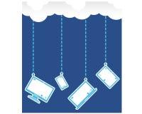 Connexion à chaînes de nuage de la dépendance dans chaque dispositif Photos libres de droits