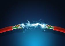 Connexion électrique intense Photos libres de droits