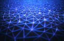 Connexion abstraite de technologie de fond illustration libre de droits