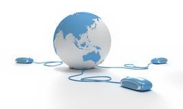 Connexion Asie du monde installée illustration de vecteur