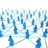 Connexion de comunication de gestion de réseau Photos libres de droits