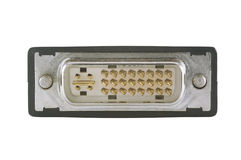 Connexion de DVI d'isolement sur le blanc Image stock