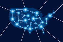 Connexion de l'Amérique Image stock