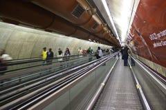 Connexion de Metrô (souterrain) - São Paulo - Brésil Image libre de droits