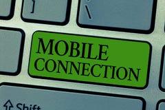 Connexion de mobile des textes d'écriture de Word Concept d'affaires pour la solution universelle sûre de login utilisant le télé images libres de droits