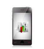 Connexion de Smartphone 4g. conception d'illustration Photo stock