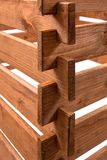 Connexion du bois - une vue détaillée de joindre plusieurs conseils photographie stock