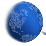Connexion du monde images stock