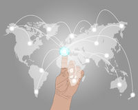 Connexion du monde Image stock