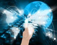 Connexion du monde Image libre de droits