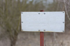 Vieux signe en métal Image stock