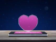 Connexion en ligne d'amour d'Internet, concept de jour de valentines Images libres de droits