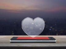 Connexion en ligne d'amour d'Internet, concept de jour de valentines Photos stock