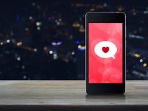 Connexion en ligne d'amour d'Internet, concept de jour de valentines Photo libre de droits