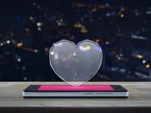 Connexion en ligne d'amour d'Internet, concept de jour de valentines Photographie stock