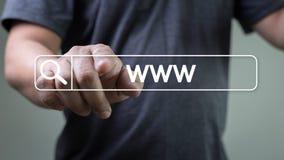 Connexion en ligne de navigateur d'ordinateur de page Web d'Internet de site Web de WWW Image stock