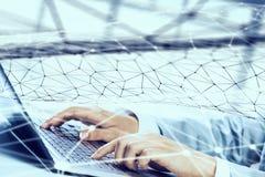 Connexion et mise en réseau sociales Image stock