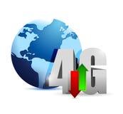 connexion 4g dans le monde entier. illustration illustration stock