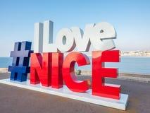 Connexion GENTIL de ` d'AMOUR du ` I Nice, France Photos stock
