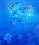 Connexion globale Photo libre de droits