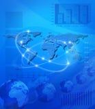 Connexion globale Images libres de droits