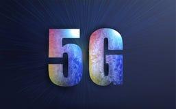 Connexion internet de l'affiche 5g Illustration créative de vecteur de technologie de transmission du signal 5G, illustration stock