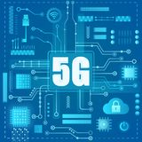 connexion internet 5g Concept moderne abstrait de style de lumière de gradient illustration libre de droits