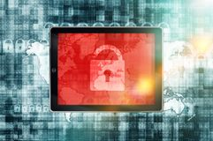 Connexion internet peu sûre Image libre de droits