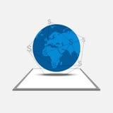 Connexion internet pour le succès illustration libre de droits