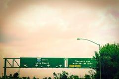 405 connexion Los Angeles d'autoroute Image libre de droits