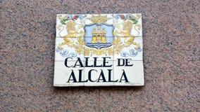 Connexion Madrid de l'information Image libre de droits