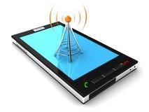 Connexion mobile Photo libre de droits