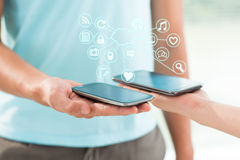 Connexion mobile Images libres de droits