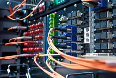 Connexion optique. Image libre de droits