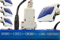Connexion par modem image stock