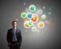 Connexion réseau Images libres de droits