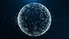Connexion réseau de Blockchain dans le cyberespace numérique Animation abstraite financière ou sociale 4K de haute qualité de fon illustration stock