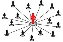 Connexion réseau de centre d'affaires Images libres de droits