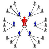 Connexion réseau de centre d'affaires Image stock