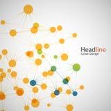 Connexion réseau de couleur de vecteur et atome d'ADN Image libre de droits