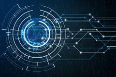 Connexion réseau globale numérique de résumé avec le code binaire images libres de droits