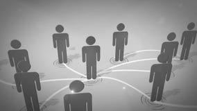 Connexion réseau sociale Images libres de droits
