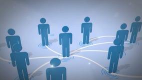 Connexion réseau sociale Photos libres de droits