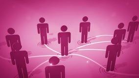 Connexion réseau sociale Image libre de droits