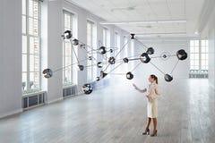 Connexion sans fil et technologies de pointe Media mélangé Image stock